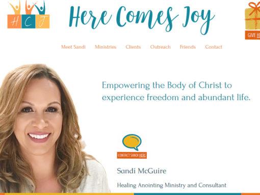 Sandi McGuire ~ Here Comes Joy Ministries